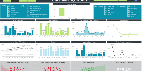 Data Bear Power BI Purchases report