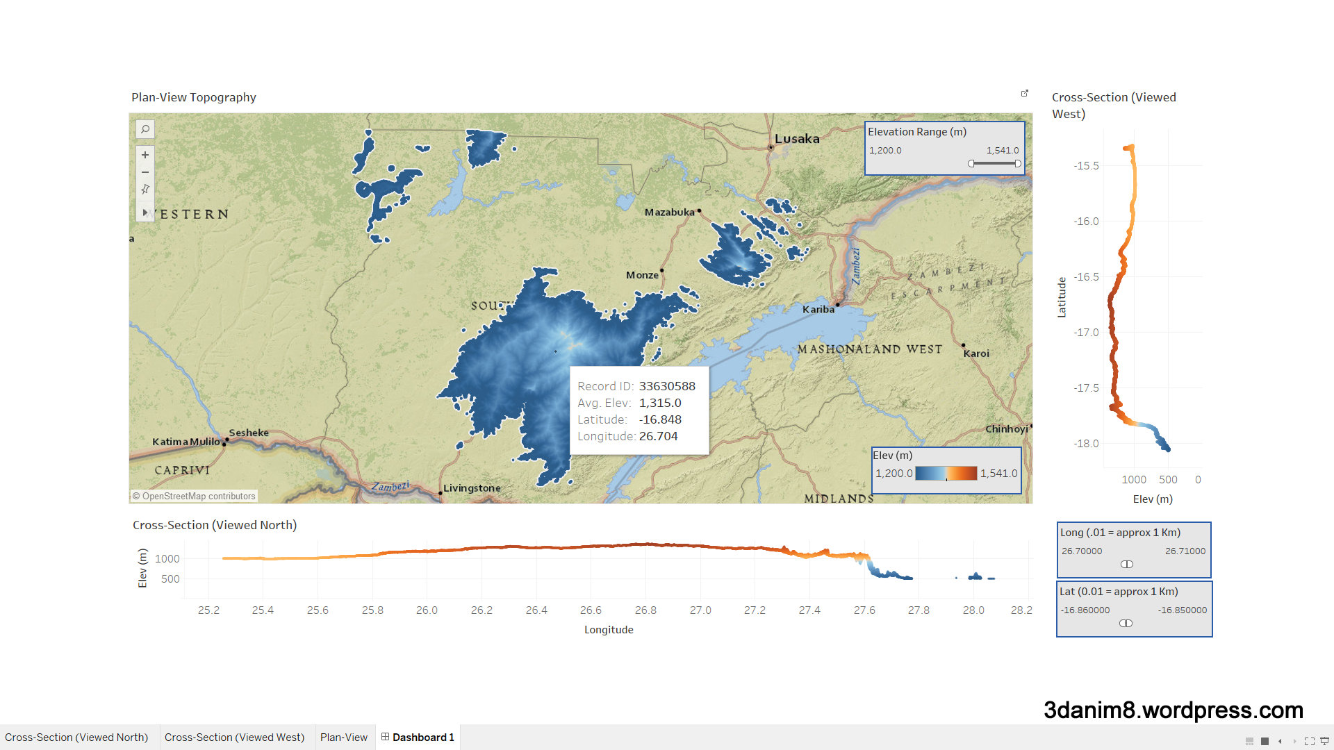Test 1 of Tableau Vs Power BI: Topographic Mapping | Data Blends