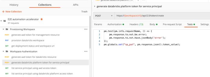 With the Databricks platform access token,<b data-recalc-dims=