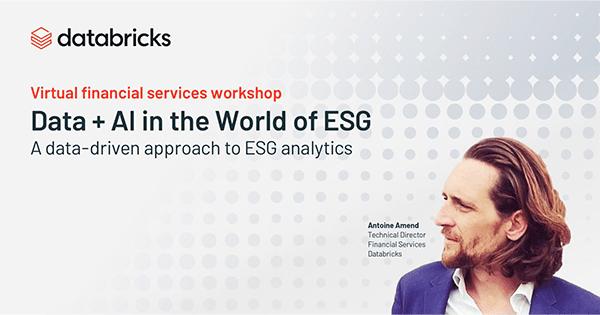 Financial Services ESG Virtual Workshop