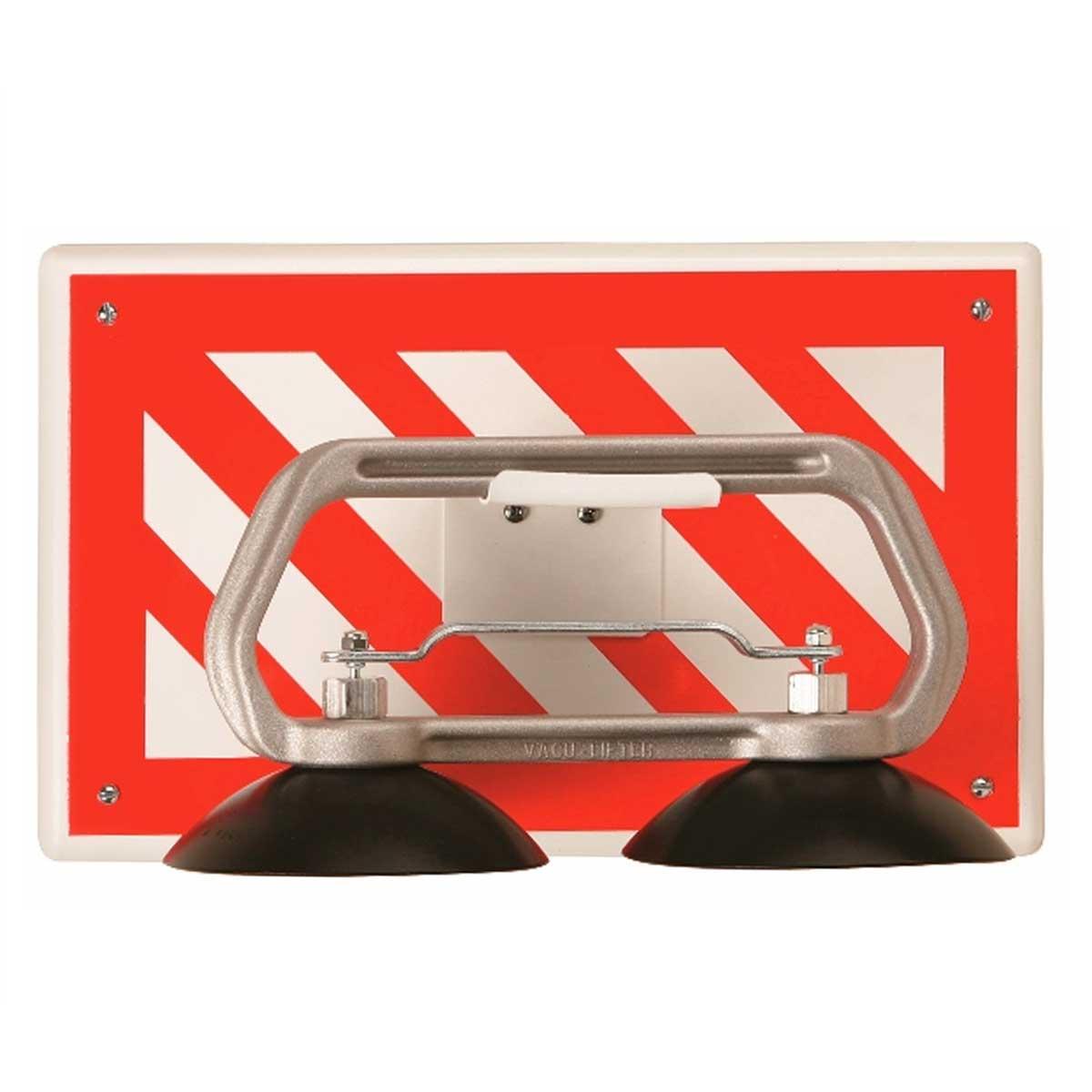 red strip metal wall bracket floor tile puller holder