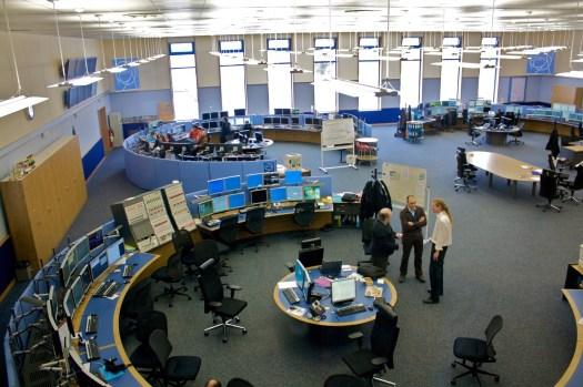 Sala de monitoração de data center