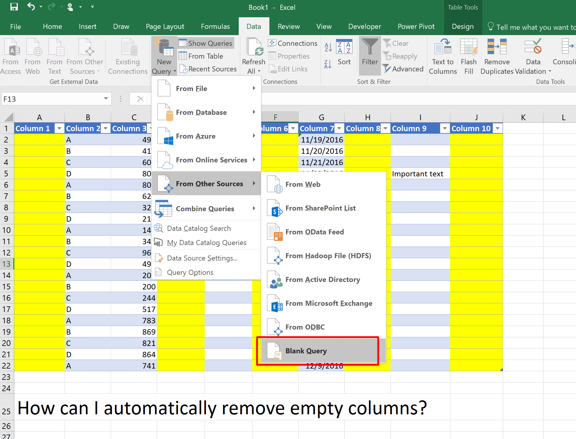 Automatically Remove Empty Columns And Rows From A Table In Excel Using Power Query