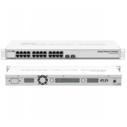 Mikrotik CSS326-24G-2S+RM 24 port Gigabit Ethernet switch with two SFP+ ports in 1U rack