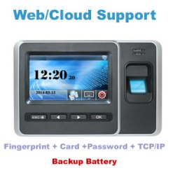 DPAD86 Fingerint Time Attendance and Access control with Cloud Software and Backup Battery