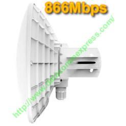 Dual chain 5GHz 802.11a/n/ac QCA9882, 128MB RAM, 720 MHz CPU, 25dBi antenna gain(DynaDish 5)