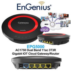 EnGenius Dual Band 2.4/5 GHz Wireless N600 Cloud Gigabit Router with USB Port and EnShare( ESR600)
