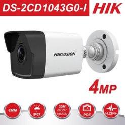 Hikvision 4MP DS-2CD1043G0-I IR Network Bullet Camera POE H.265+/H.265/H.264 1080P IR30m