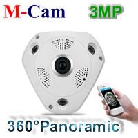 360degree 3MP Wireless VR Panoramic Fisheye IP Camera(QJHI300D-V1)