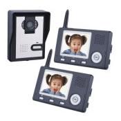 2.4Ghz Wireless video Door Phone with 2 monitors