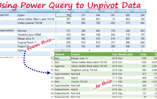 using Excel Power Query to Unpivot Data