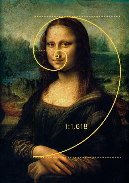Golden ratio/Gulden snede in de Mona Lisa
