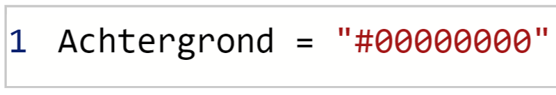 Achtergrondkleur code