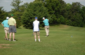 Players enjoy the Henderson Country Club course during the 2012 VGCC Endowment Fund Benefit Golf Tournament. (VGCC photo)