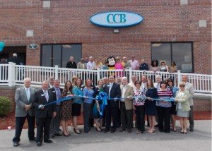 Shown at the Henderson-Vance Chamber of Commerce ribbon cutting for Citizens Community Bank (CCB) are, Director Emeritus R.T. Arnold, Director; Sep Evans, SVP, Regional Executive, Virginia; Norman D. Wagstaff, Jr., Vice-Chairman/Board of Directors; Ronnie Wells, Director; Holly Blackwell, VP/Retail Executive; Jenni Waller, VP/Human Resources Leader; Brooke May, Universal Banker; Vera Primm, Executive VP/CFO; Katie Bloom, Universal Banker; Kim Jordan, VP/Market Executive; Denny Hardee, Chairman/Board of Directors; James Black, President/CEO; Bill Solari, Director; Mayor Pete O'Geary; Tommy Hester, Vance County Board of Commissioners; Jenny Hester, Prim Development and HVCC Board Chair; Billy Wilkinson, Director; Stephanie Walker, Senior Relationship Officer; Jimmy Butts, Director; Tabatha Allard, Senior Loan Processor Specialist; Karen Whitten, Senior Branch Manager, Boydton; Cindy Bostick, Assistant District Attorney; Sheri Sparkman, Director; John Barnes, HVCC President; Connie Ragland, Work First Coordinator; Sheri Jones, Communications Consultant;  Not pictured:; Annette Roberson, Director of Membership Services; Ambassador Susan Rogers, Chick-fil-A; Ambassador Julia Langston, Henderson Family YMCA; Stuart L. Litvin, Vance County Economic Development Commission Director; among other community leaders, business colleagues, and the CC Saver Bee!