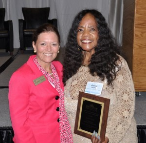 From left, VGCC Dean of Arts and Sciences Cynthia Young and Jacquelin Heath at the SYNERGY Conference.