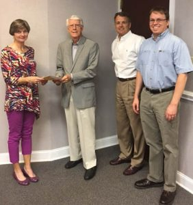 From Left to Right, Carolyn Powell, Dr. Marian Lark, Frank Frazier, Phil Hart
