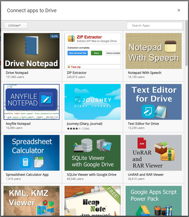 Google Drive Utility Apps
