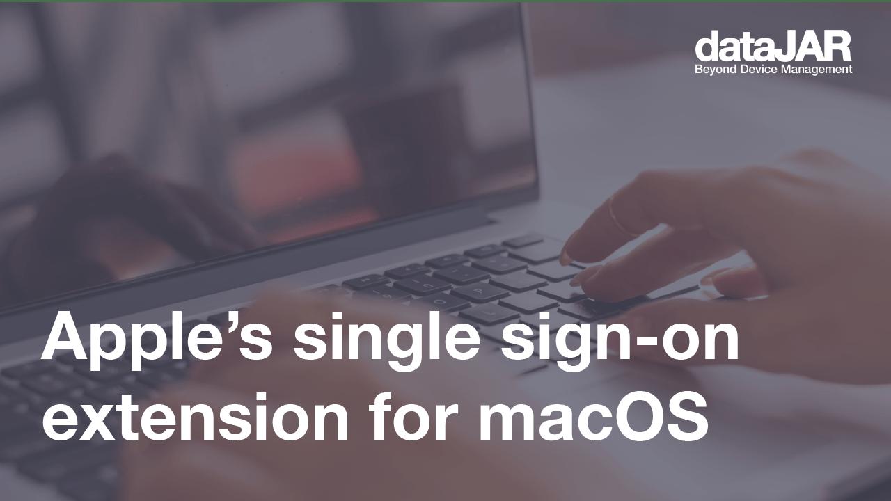 Apple's Single Sign On (SSO)