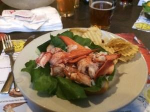 A yummy lobster roll
