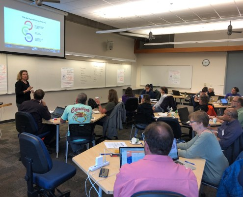 Data Lab workshop participants at Western Washington University.