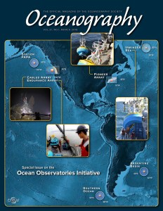 Cover of the OOI Special Issue in Oceanography Magazine