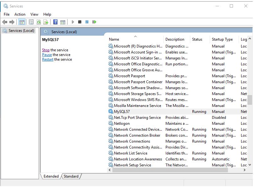 How to Manually Start Stop and Restart MySql Server on