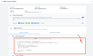 where to find tracking code in Google Analytic