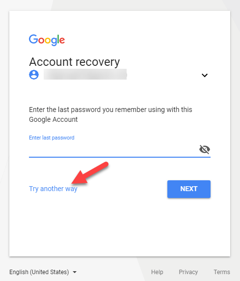 Try Another Wayto Recover Gmail Password
