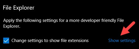 Change the Settings to Show File Extensions