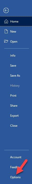 Microsoft Word File Menu