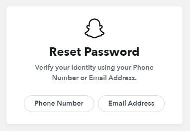 Snapchat Reset Password