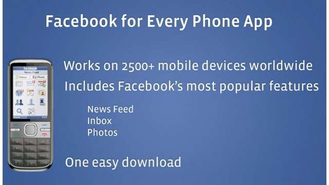 Facebook Mobile app for Every Phone