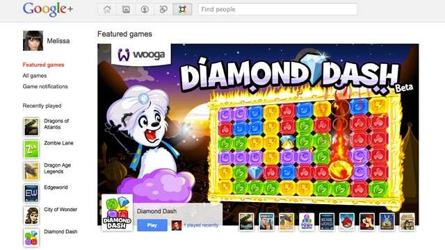 Google plus Games Launched