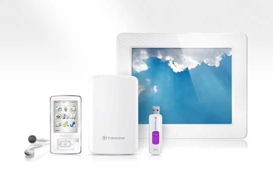 Transcend's Classy White Product Collection
