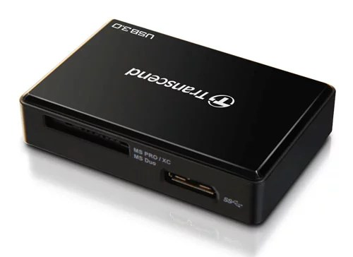 Transcend's RDF8 High-performance USB 3.0 multi card reader