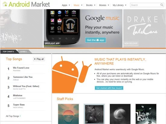 Google Music Goes Live on USA - Android Music Store