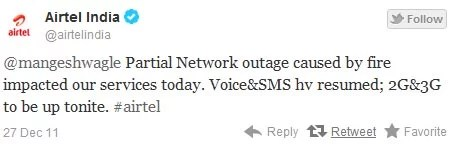 Airtel Technical outage issue Updates