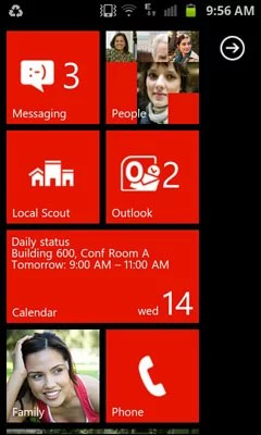 Windows Phone User Interface Demo on Android and iOS Smartphones