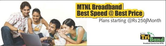MTNL Launches Two New Usage Based Broadband Plans at Rs 250 and Rs 450 per month
