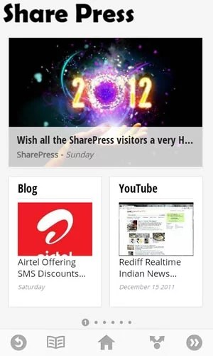 Sharepress on Google Currents application