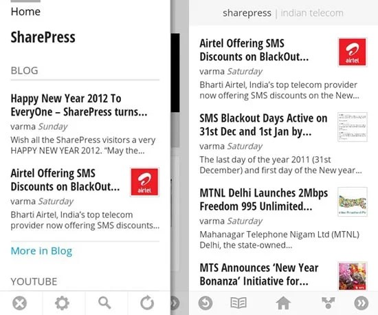 SharePress on Google Currents