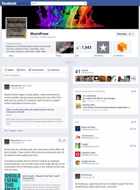 Facebook Brand Page Timeline New Design