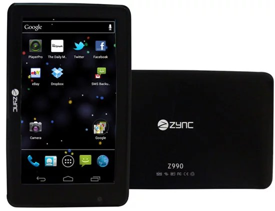 India's first Tablet PC with Android 4.0 ICS - Zync Z990