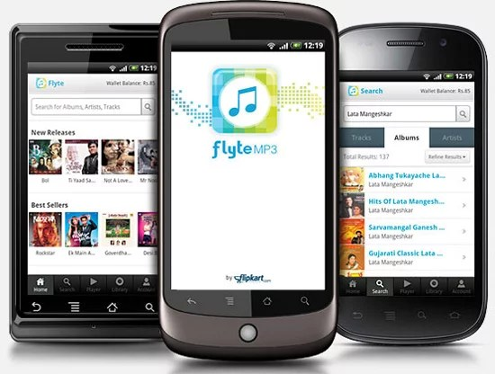 Flipkart Flyte MP3 Store Now Available as an Android App