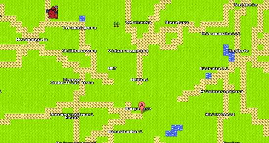 Google Maps in 8bit Colors - April Fool