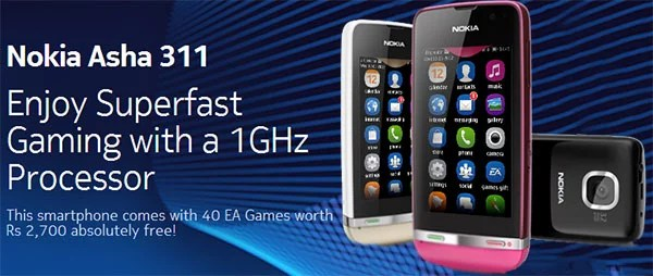 Nokia India launches Asha 311 Mobile with 1Ghz Processor