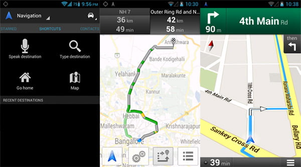 Google Maps Navigation (Beta) in India
