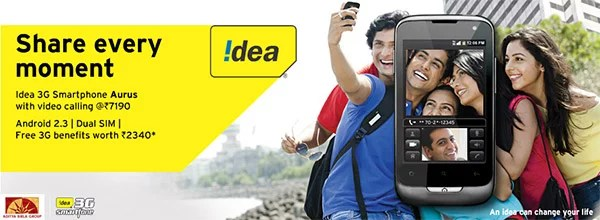 Idea Cellular launches 3G Android Smartphone 'Aurus' With Dual SIM, Front Camera & Free 3G Benefits