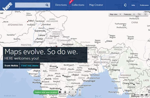 Nokia rebrands its location and mapping service to 'Nokia HERE'